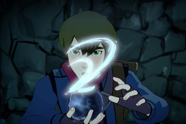 Callum with primal stone The Dragon Prince PC Netflix